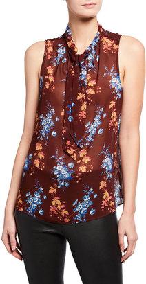 Paige Myra Sleeveless Floral-Print Blouse