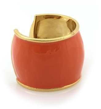 Belle Noel by Kim Kardashian Orange Enameled Cuff