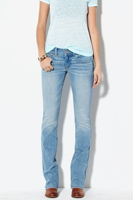 American Eagle Outfitters Faded Light Kick Boot Cut Jeans, Womens 18 Short By