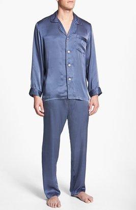 Men's Majestic International 'Cypress' Silk Pajamas $200 thestylecure.com