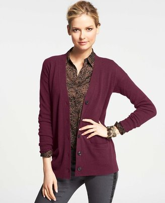 Ann Taylor Collectible Cashmere V-Neck Cardigan