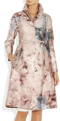 Valentino Printed cotton and silk-blend coat