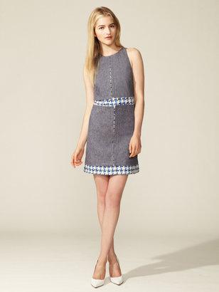 Peter Som Denim Tweed Dress