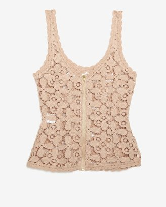 Intermix Exclusive For Zipper Back Lace Tank