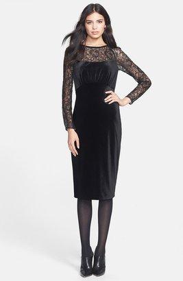 Ted Baker 'Iriah' Lace & Velvet Midi Dress