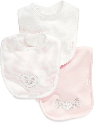 Little Me Baby Set, Baby Girls Sweet 3-Piece Bibs and Burp Cloth