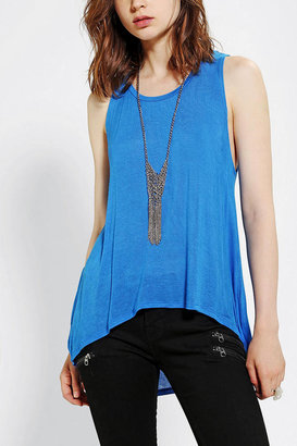 Sparkle & Fade Extreme High/Low Tank Top