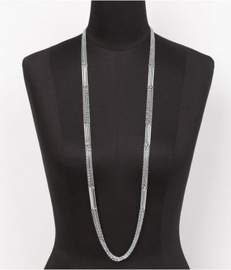 Express Three-Row Chain And Stick Necklace