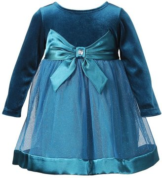 Youngland sparkle mesh velour dress - baby