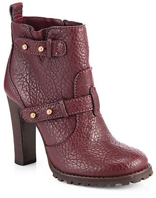 Tory Burch Landers Leather Platform Ankle Boots