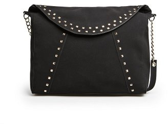 MANGO Outlet Studded Tote Flap Bag