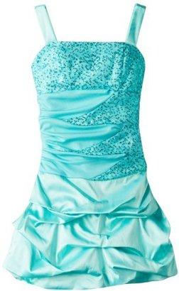 Ruby Rox Big Girls' Beaded Bodice Dress with Beaded Shrug