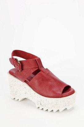 Gee WaWa GeeWaWa Shark Tooth Slingback Platform Sandal