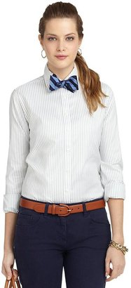 Brooks Brothers Non-Iron Classic Fit Wide Stripe Dress Shirt
