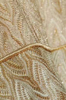 Missoni Degradé metallic crochet-knit dress