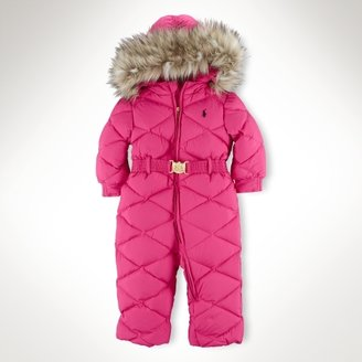 Faux-Fur-Trimmed Down Snowsuit