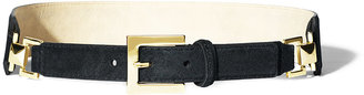 Vince Camuto Adjustable Suede Belt Olive