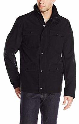Kenneth Cole Reaction Men's Four-Pocket Soft-Shell Jacket