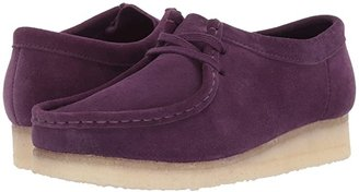 Clarks Wallabee (Black Suede/Canvas 1) Women's Lace up casual Shoes