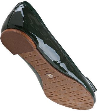 Kate Spade Tock Ballet Flat Loden Green Patent