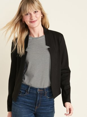 Old Navy Cropped Ponte-Knit Blazer for Women