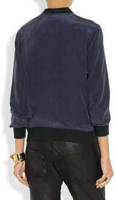 Equipment Abbot washed-silk bomber jacket