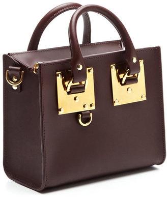 Sophie Hulme Box Tote Bag In Oxblood