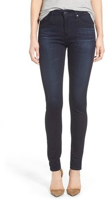 AG 'The Farrah' High Rise Skinny Jeans $168 thestylecure.com