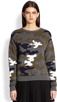 Christopher Kane Camo Cashmere Sweater