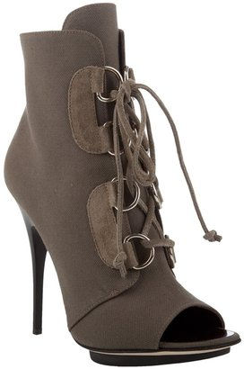 Giuseppe Zanotti Design Canvas lace-up ankle boots