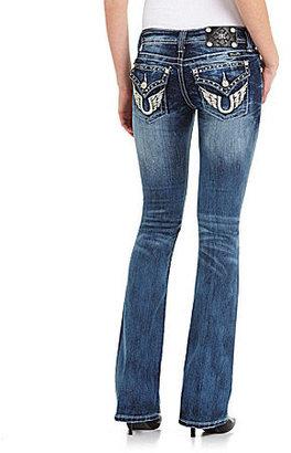 Miss Me Horseshoe Pocket Bootcut Jeans