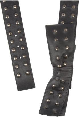 Valentino Studded leather bow belt