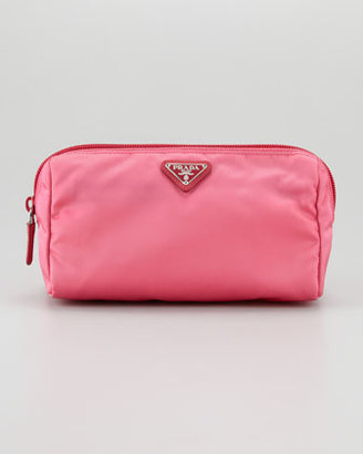 Prada Vela Cosmetic Bag, Peonia