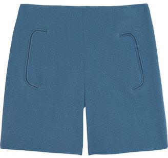Chloé Wool-crepe shorts