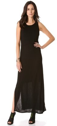 DKNY Maxi Dress with Front Overlay