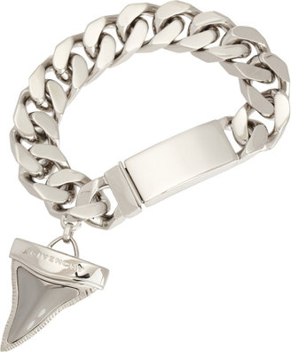 Givenchy Palladium & Ruthenium Shark Tooth Charm Bracelet