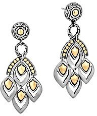 John Hardy Naga Gold and Silver Chandelier Earrings