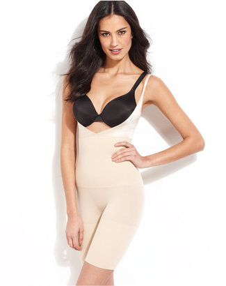 Maidenform Firm Control Seamless Long Leg Open Bust Body Shaper 12615 $57 thestylecure.com