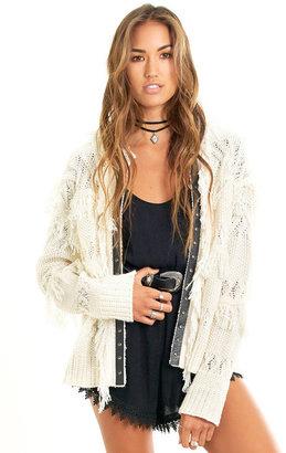 Saltwater Luxe - Free Spirit Sweater Vanilla $168 thestylecure.com