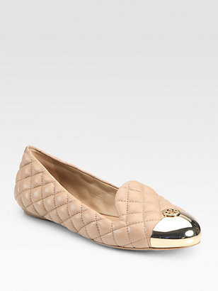 Tory Burch Kaitlin Quilted Leather Smoking Slippers