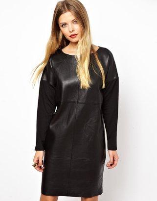Asos Leather Ovoid Dress