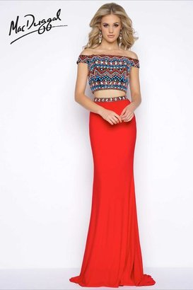 Cassandra Stone - 40605 Two Piece Gown In Mayan Red