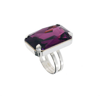 Swarovski Krystal Gem Adjustable Ring