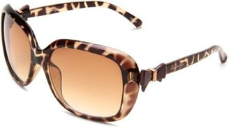 UNIONBAY Union Bay Women's U179 Oversized Oval Sunglasses,Tortoise Animal Frame,Brown Gradient Lens,One Size