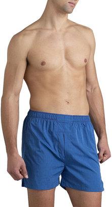 Neiman Marcus Blue Full-Cut Boxers