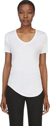 Helmut Lang White Jersey Kinetic T-Shirt