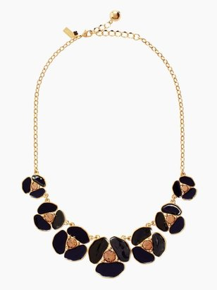 Kate Spade Disco pansy graduated necklace