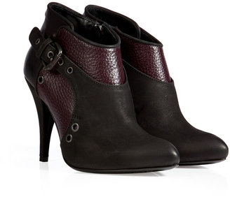 McQ by Alexander McQueen Military Ankle Boots in Oxblood