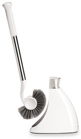 Simplehuman Stainless Steel and White Toilet Brush