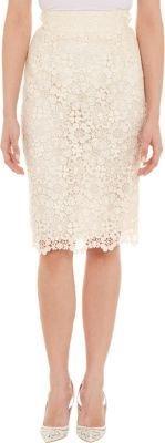 Dolce & Gabbana Floral Macramé Pencil Skirt